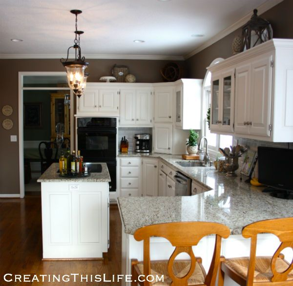 decorating above kitchen cabinets at