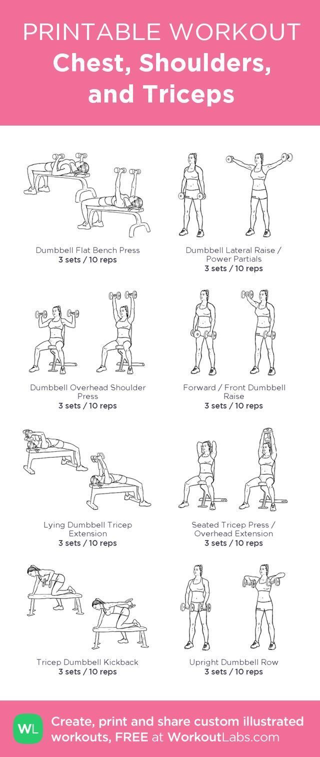 The chest and triceps power workout advise