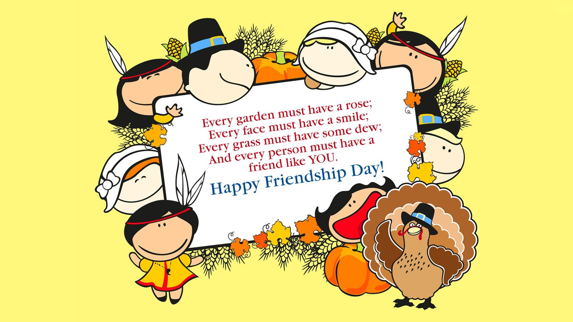 Very Happy Friendship Day Pc Background