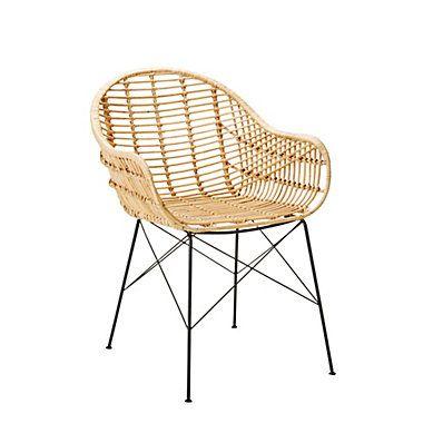 date de sortie: 50597 df4e4 Chaise rotin PAPAYA Naturel | Chair / Armnchair / Sofa ...