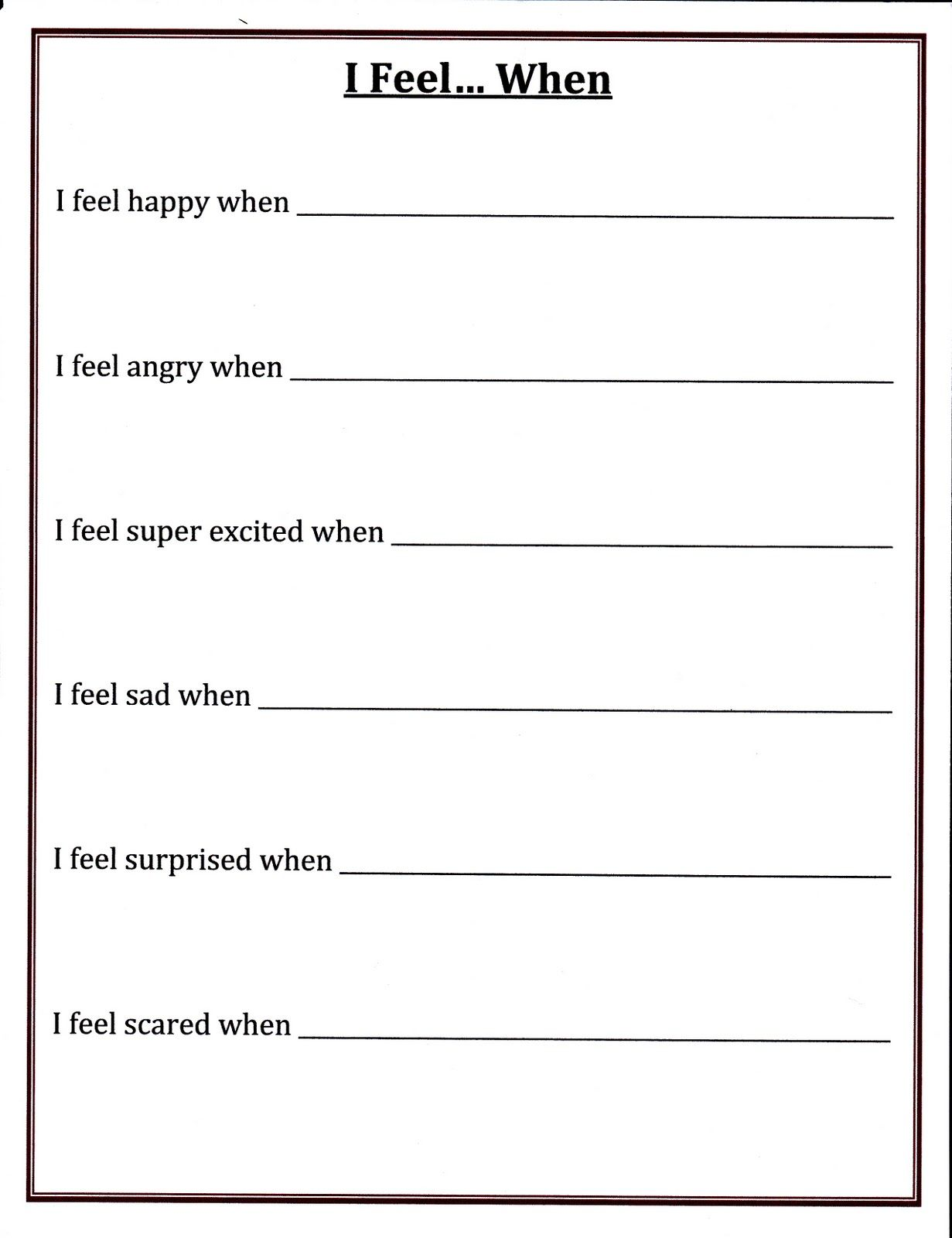 Worksheets Self Esteem Worksheets For Kids expressing yourself children do not always understand the range of their feelings by helping self esteem worksheetsco
