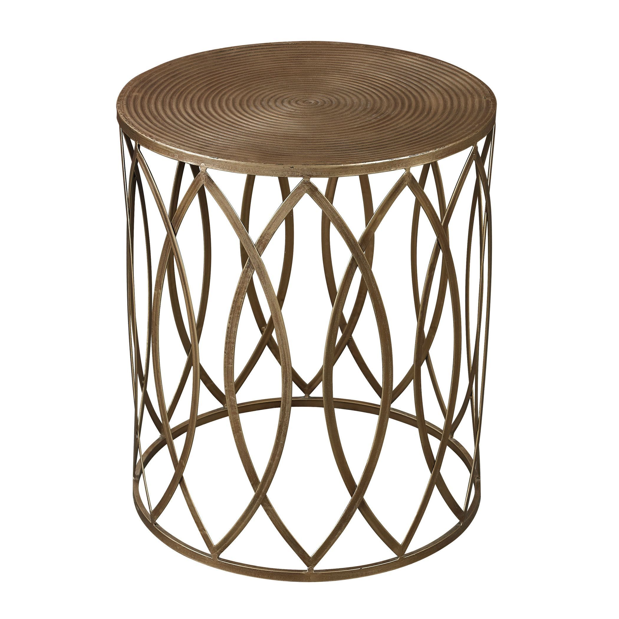 Uberlegen 136 Add Simple Style To Any Space With The Sutton Gold Leaf Accent Table.  This. Akzent TischeGoldener AkzenttischWohnzimmer ...