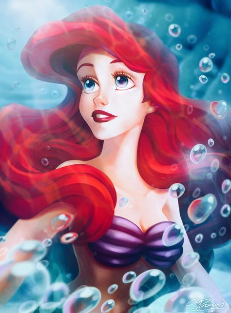 Ariel disney fanart disneyfanart littlemermaid ariel - Dessin anime princesse ariel ...