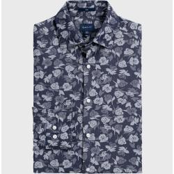 Gant Figurbetontes Rose Jacquard Hemd (Blau) Gant