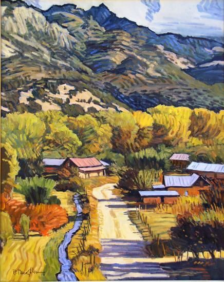Robert Daughters (1929 - 2013)  Near Embudo  Oil on masonite, 30 x 24 inches