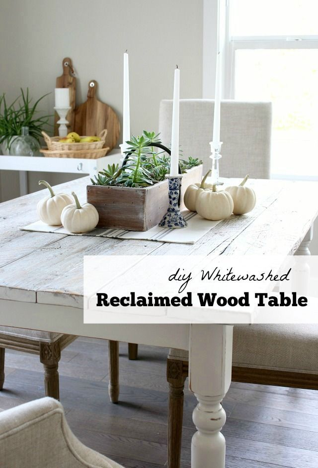 Whitewashed Reclaimed Wood Dining Table - Satori Design for Living