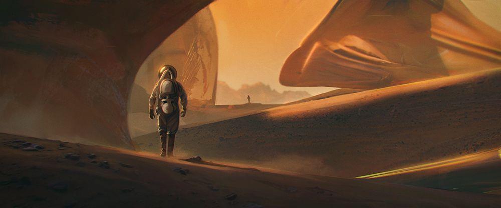 Astronaut Speedpaint by BastaMarcin