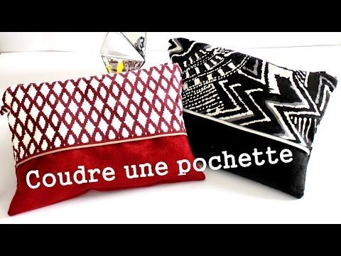coudre une pochette youtube couture pinterest clutch n hen n hen und patchwork. Black Bedroom Furniture Sets. Home Design Ideas