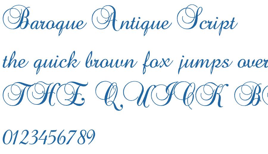 Baroque Antique Script Font Free