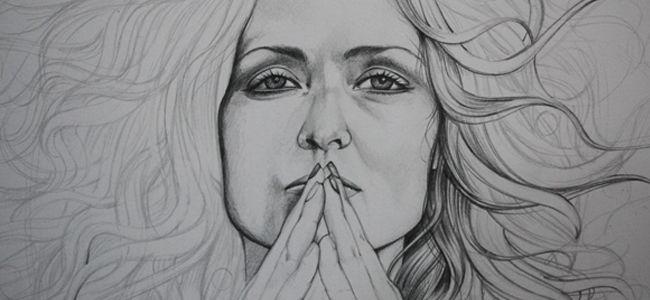 tutorial Mermaid Portrait Drawing – Part 1