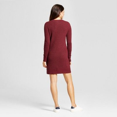 80a4137ea32 Women s Textured Sweater Dress - A New Day Burgundy (Red) Xxl ...