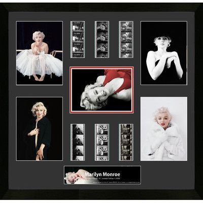 Trend Setters Greene photography Marilyn Monroe MGC Montage FilmCell Presentation Framed Memorabilia