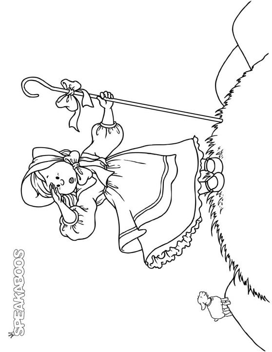 Coloring Pages Little Bo Peep Speakaboos Worksheets Little Bo