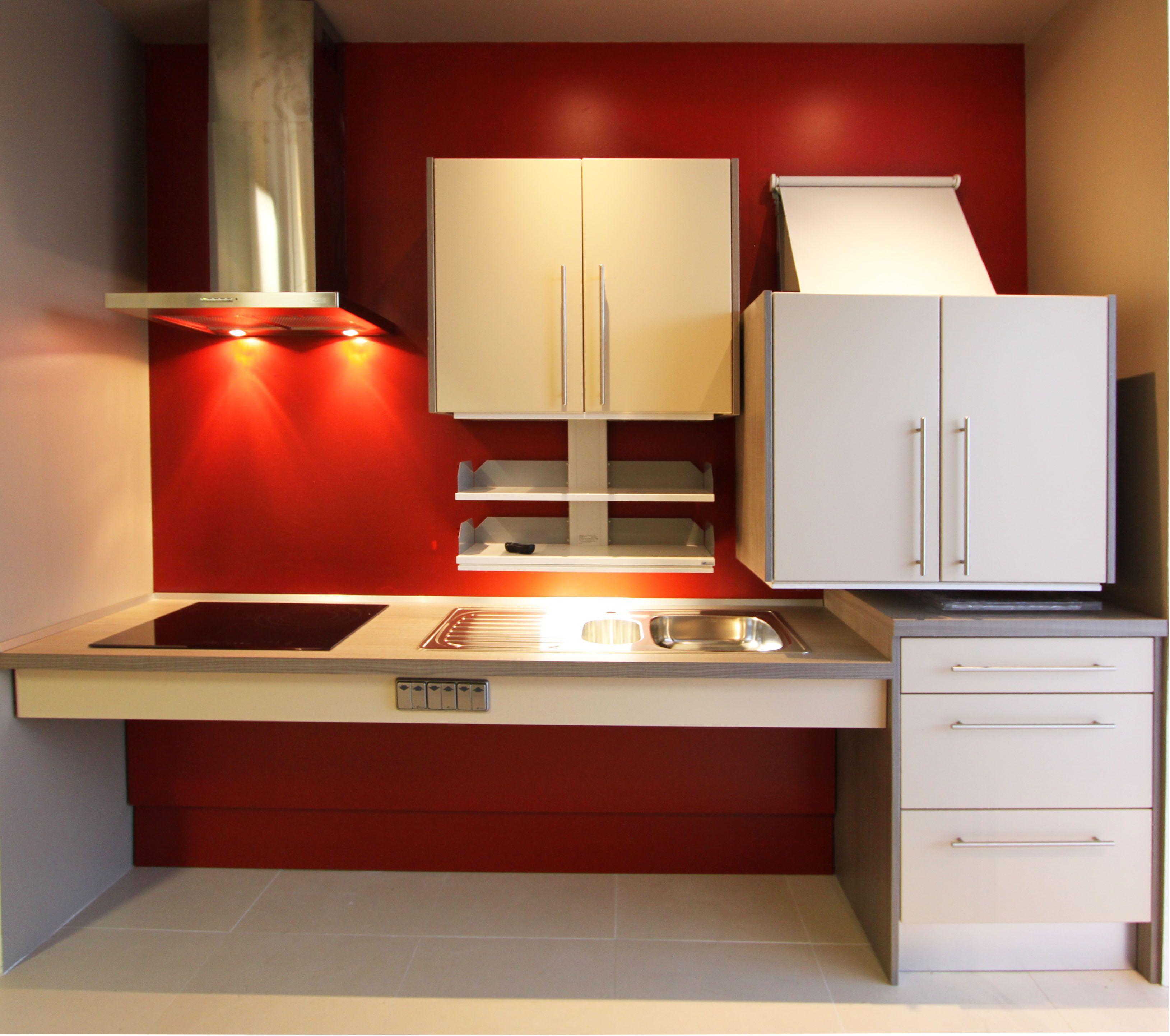 Cuisine ergonomique pmr our personne mobilit r duite fabrimeuble fabrication fran aise for Fabricant cuisine design