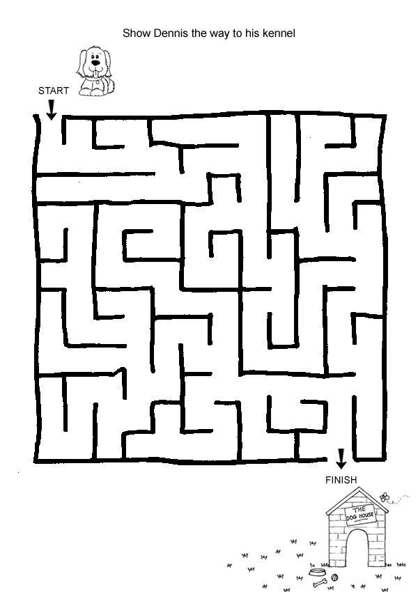 Free Online Printable Kids Games - Lost Puppy Maze | Maze ...