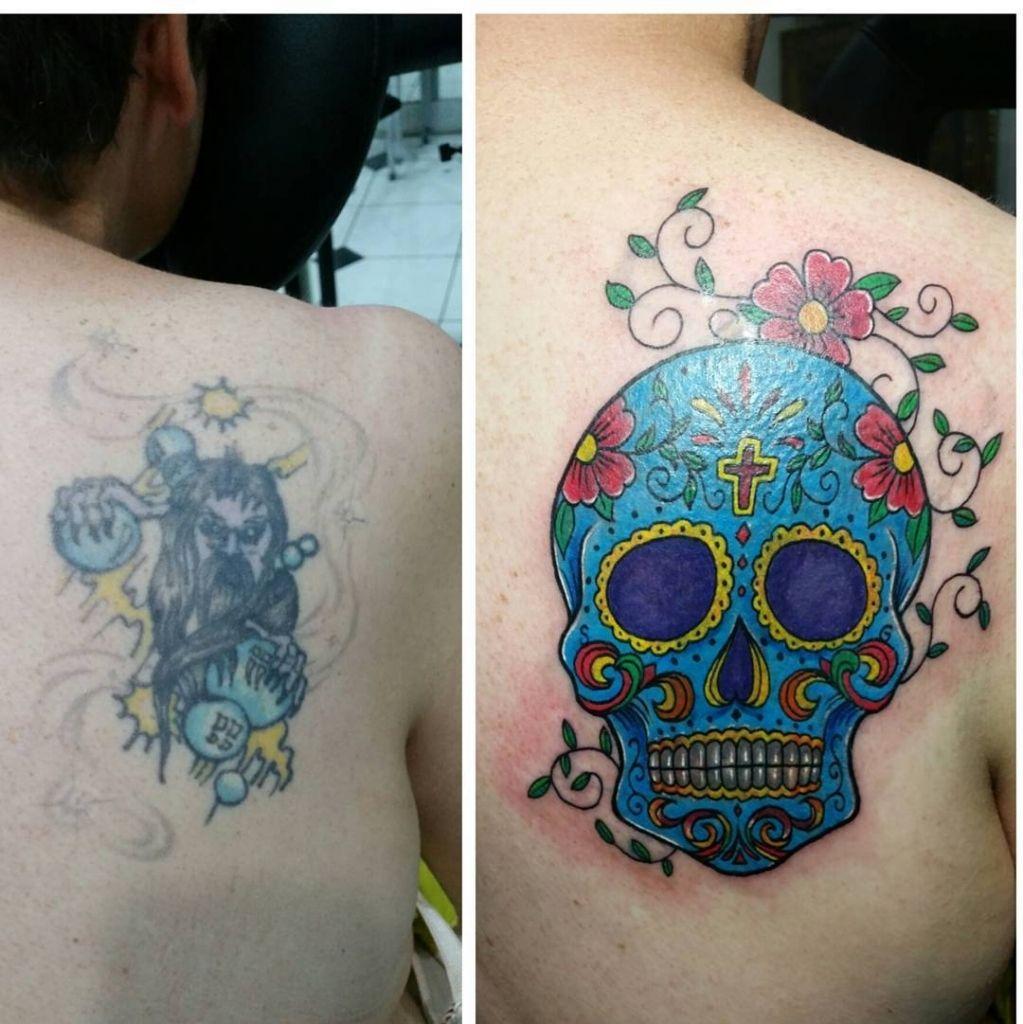 Back Cover Up Tattoo Designs Sugar Skull Tattoos Butterfly Tattoo Cover Up Skull Tattoo Design