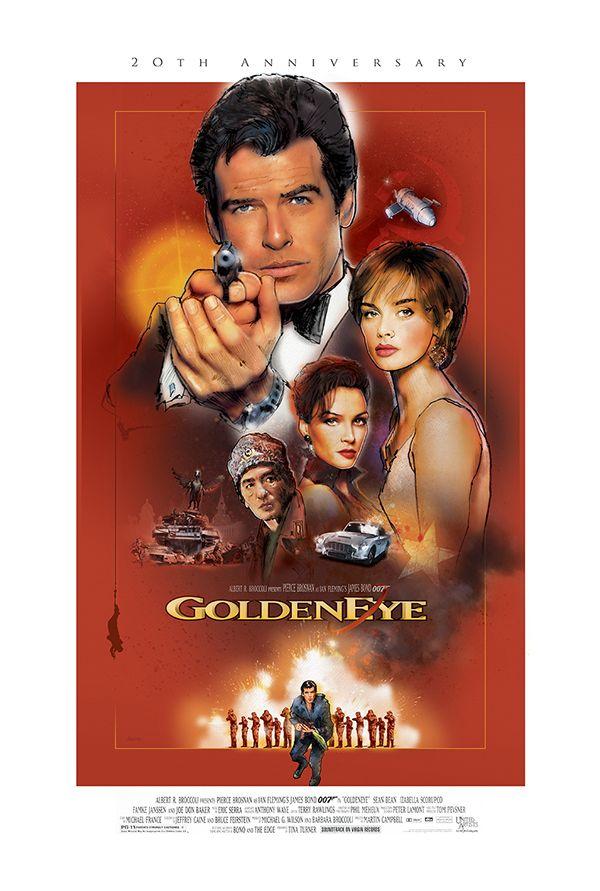 James Bond Goldeneye On Behance James Bond Actors James Bond Movie Posters James Bond Movies