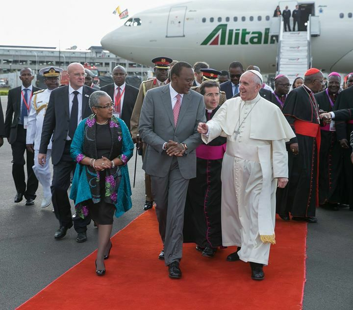 welcome to Kenya Pope Francis