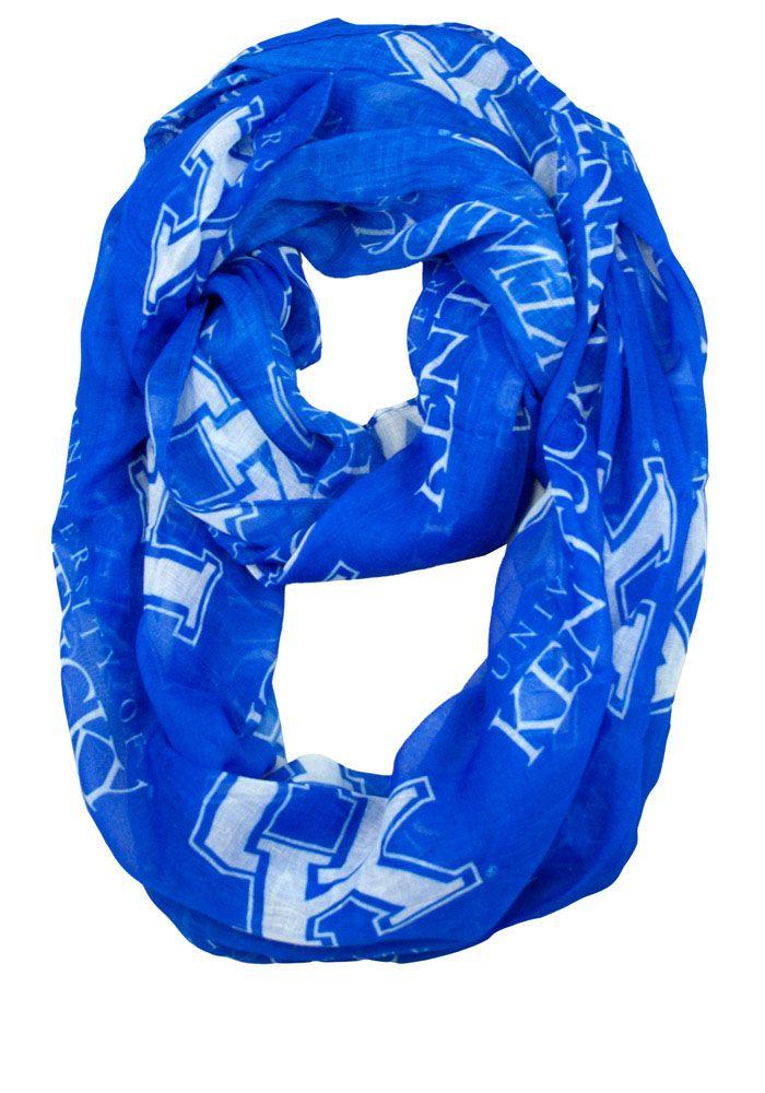 Kentucky Wildcats Sheer Infinity Womens Scarf Blue Womens