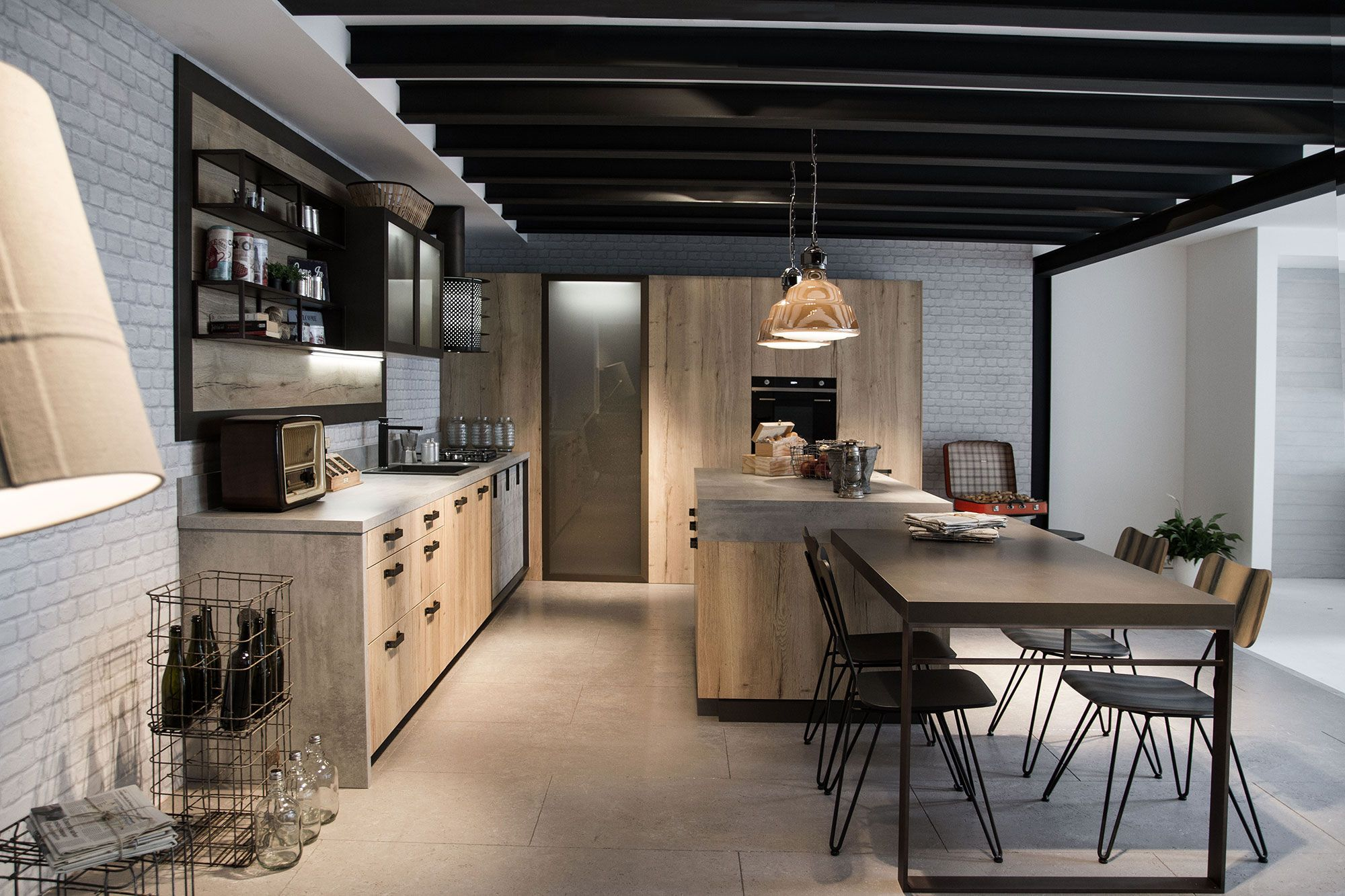 Realizzazione cucina moderna loft kitchen islands pinterest