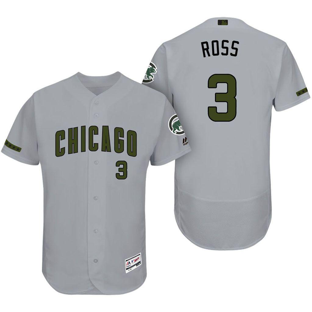 96a9e8d2fab Chicago Cubs David Ross Majestic 2017 Memorial Day Men s Flex base jersey
