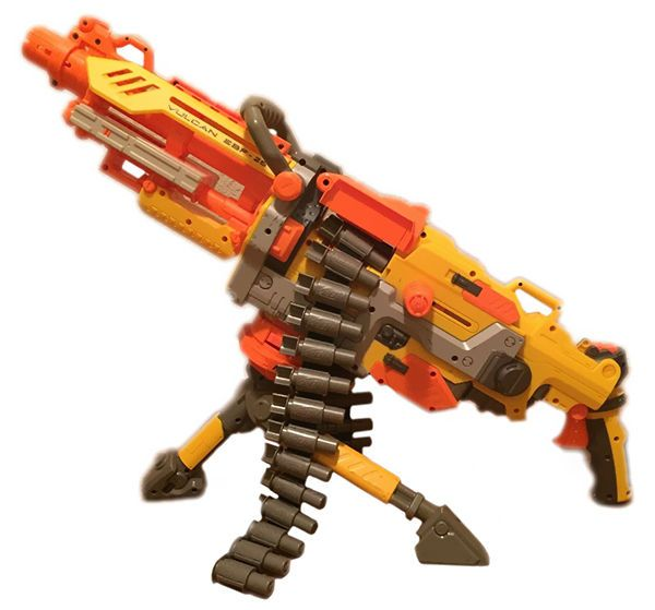 Hasbro produces and markets Nerf guns.