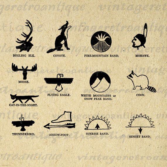 Printable Native American Indian Symbols Digital Download Graphic ...