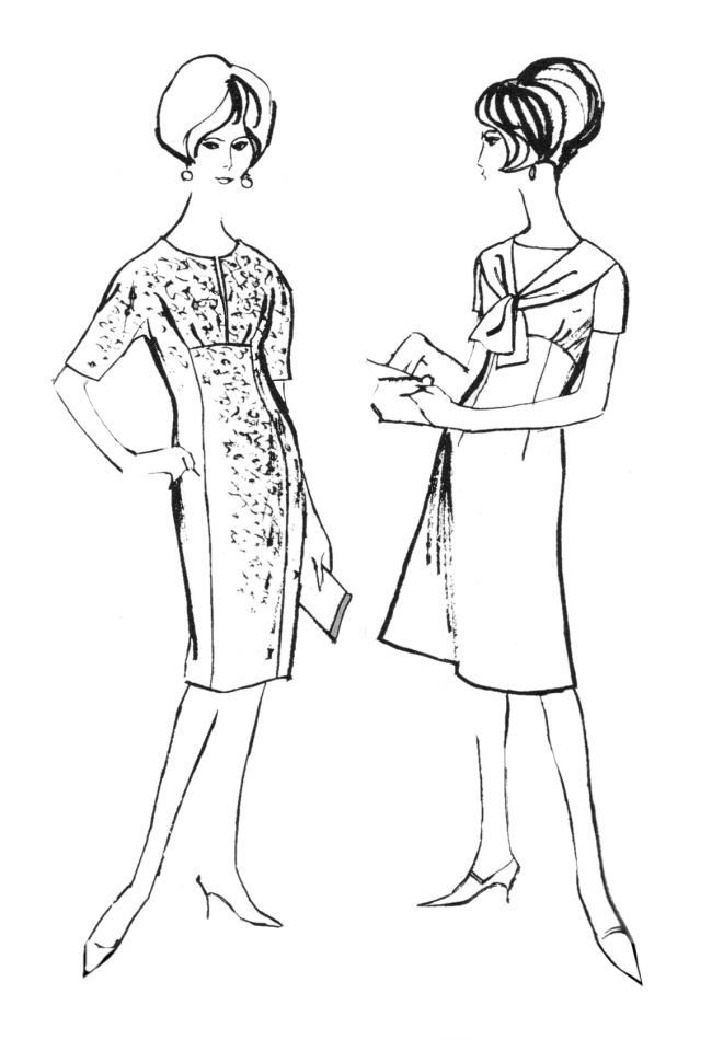 Fashion sewing was very popular during the early sixties