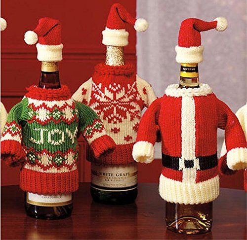 Christmas Wine Bottle Covers Bags More Webnuggetz