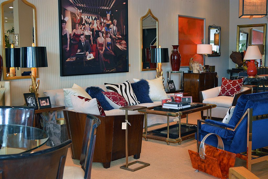 Patriotic Colored #sofa Vignette With Vintage #Playboy