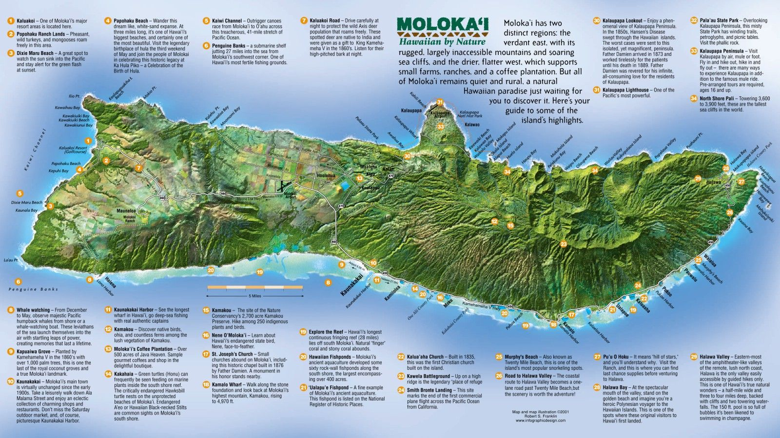 Molokai tourist map molokai hawaii mappery places i would tourist map of island of molokai hawaii shows roads and points of interest sciox Choice Image