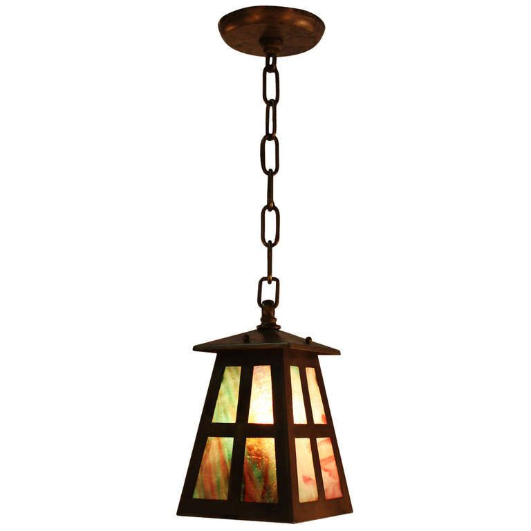 American Arts Crafts Pendant Light