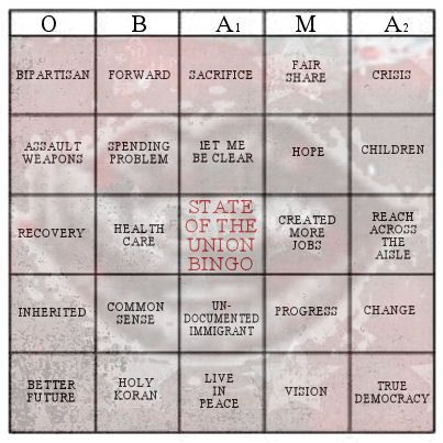 Hurry ... BINGO will possibly make the SOTU more bearable! #conservalicious #SOTU #conservativeposts