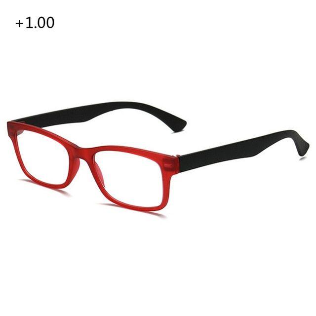66d10f3401d Unisex Fashionable Reading Glasses Women Men Ultralight Resin Lenses  Elderly Watch Presbyopic Eyeglasses Full Frame Portable Review