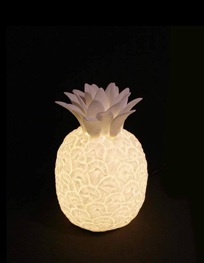 Bone China Pineapple Lamp   I Love Lights   Light up my ...