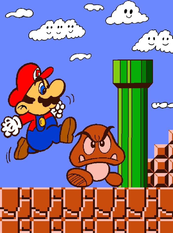 Super Mario Bros (Coloring Book) By Cuddlesnam.deviantart.com On  @DeviantArt Mario Bros, Super Mario Bros 1985, Super Mario Bros