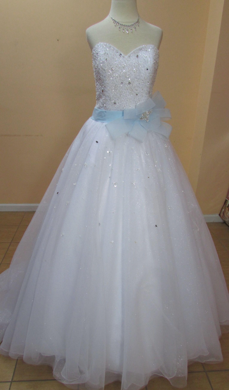 White/Glass Slipper Net 241 Formal Wedding Dress | Formal wedding ...