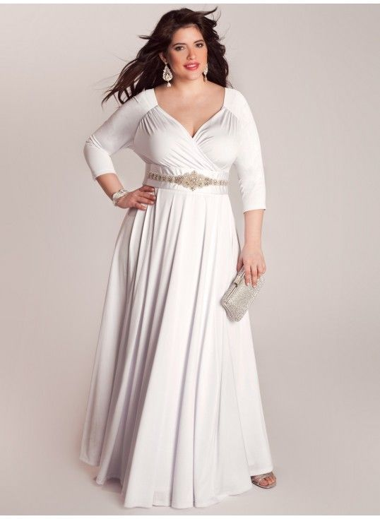 Plus Size Wrap Wedding Dress