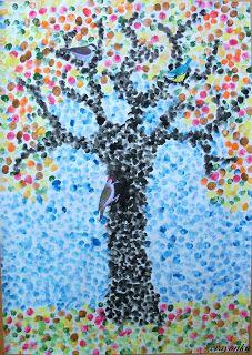 Drzewo Jesienne Z Ptakami Art For Kids 2nd Grade Art Art Lessons