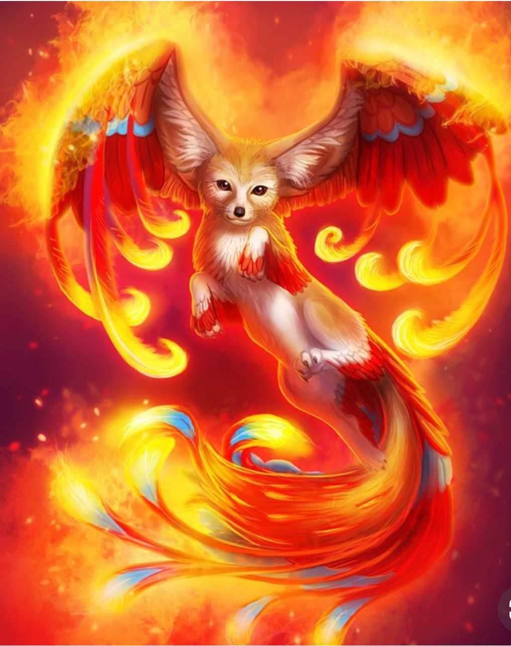 Fire Wolf Cute Cute Fantasy Creatures Mythical Creatures Art Mystical Animals