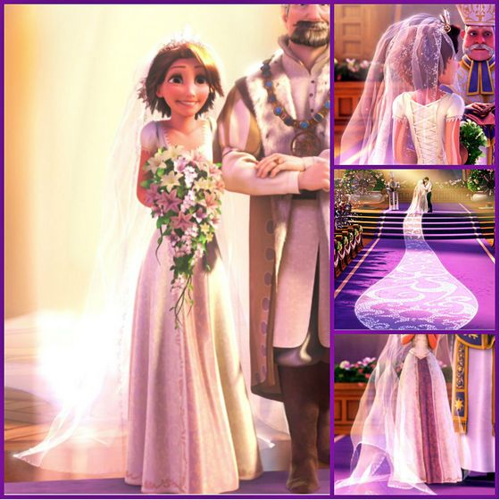 Pin By Annalisa Stahler On It All Started With A Mouse Disney Wedding Dresses Tangled Wedding Rapunzel Wedding Dress