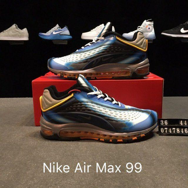 wholesale dealer 78580 e613c ... coupon for dazzling nike air max deluxe 99 photo blue wolf grey orange  peel black aj7831
