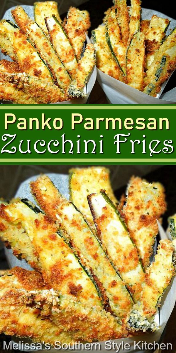 Panko Parmesan Crusted Zucchini Fries