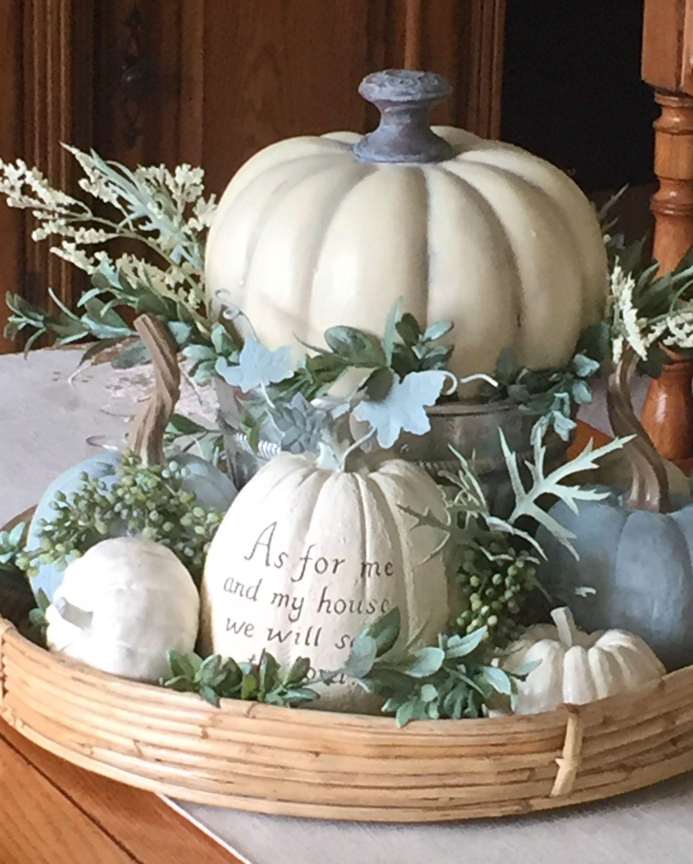 White and blue pumpkins #Fall#Autumn #WhitePumpkins# ...