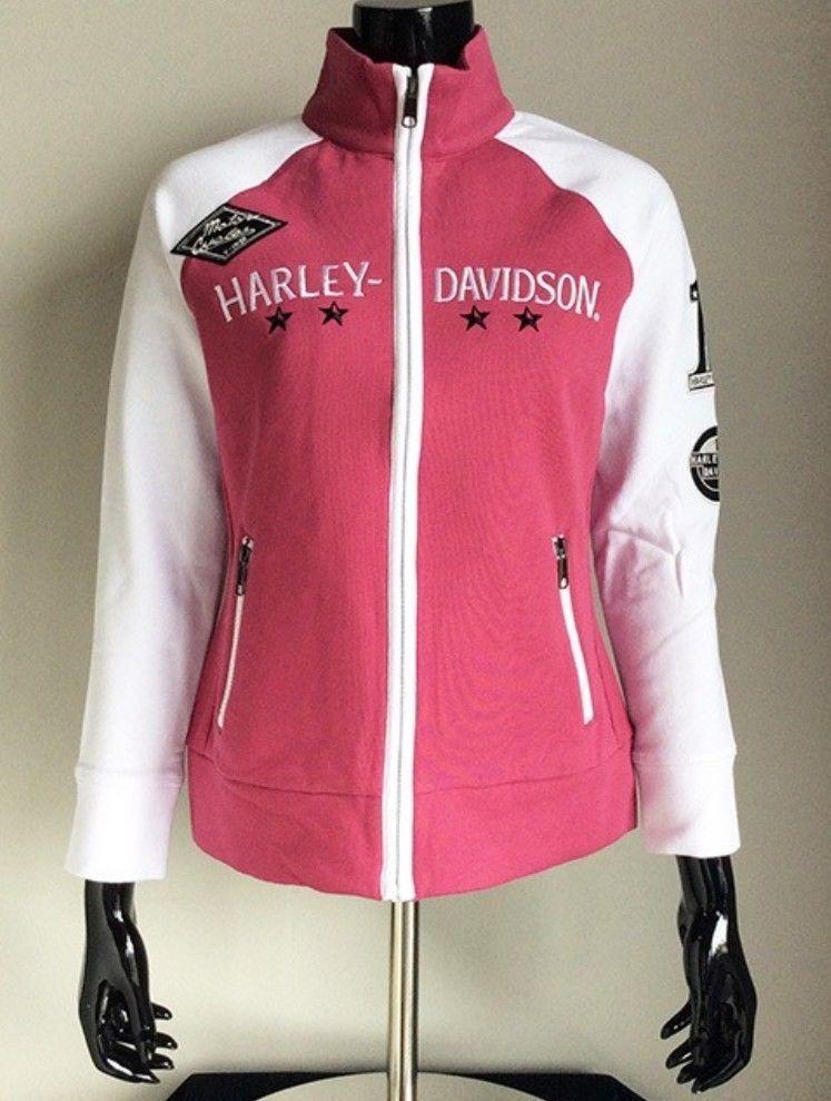 NWT Harley Davidson Women's Colorblock Activewear Zippered