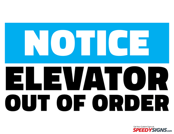 picture relating to Out of Order Sign Template titled Absolutely free Awareness Elevator Out of Purchase Printable Indication Template