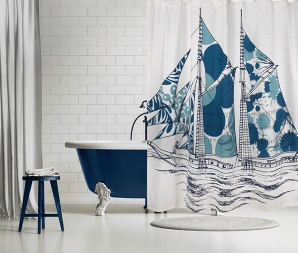 Thomas Paul Dazzling Ship Shower Curtain Curtains Shower
