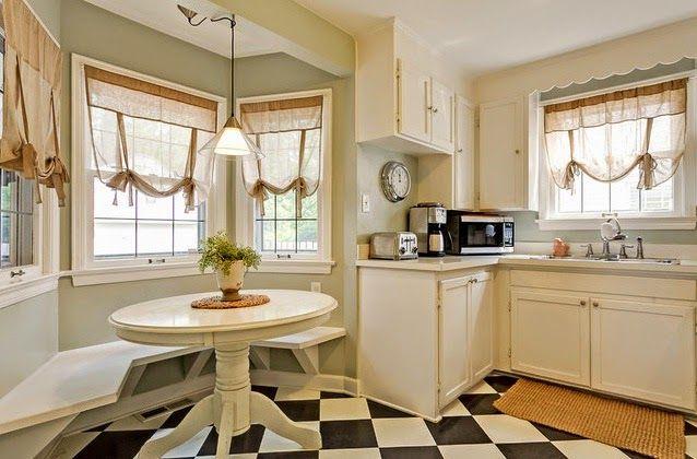 bonitas cortinas tipo estor para cocinas