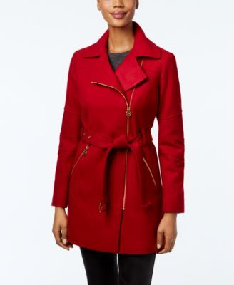 b8eec1a0b MICHAEL Michael Kors Asymmetrical-Zip Walker Coat  149.99 Wrap yourself in  the soft
