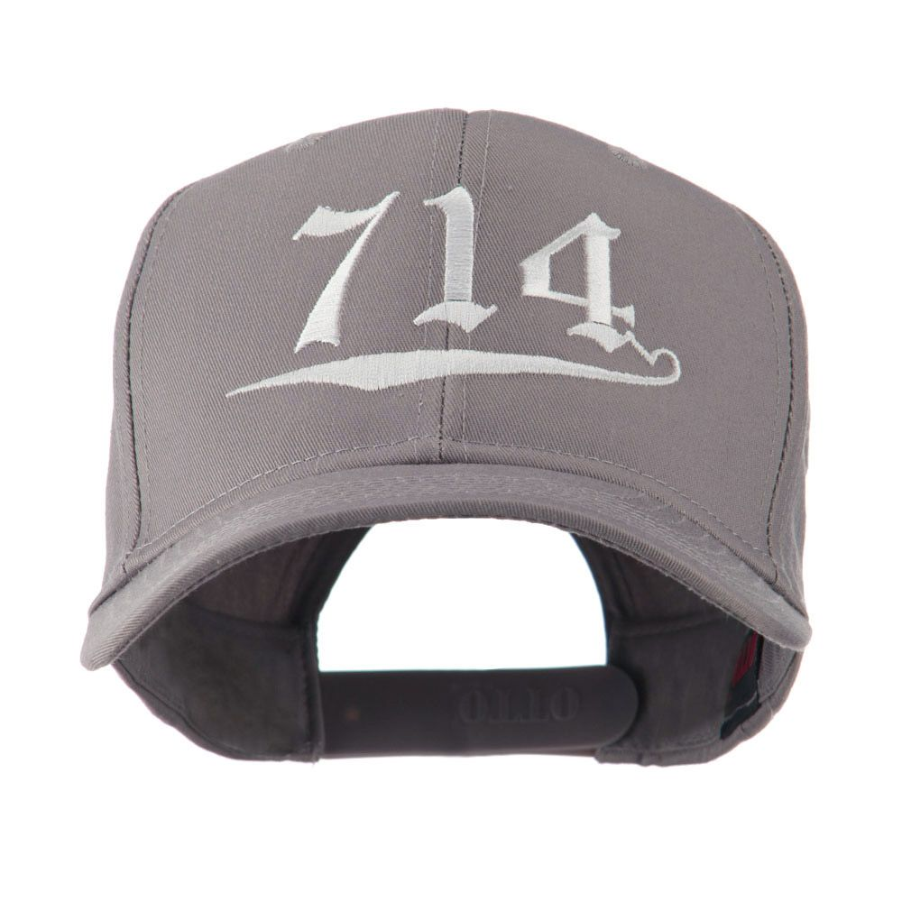 714 Orange County Area Code Embroidered Cap Grey